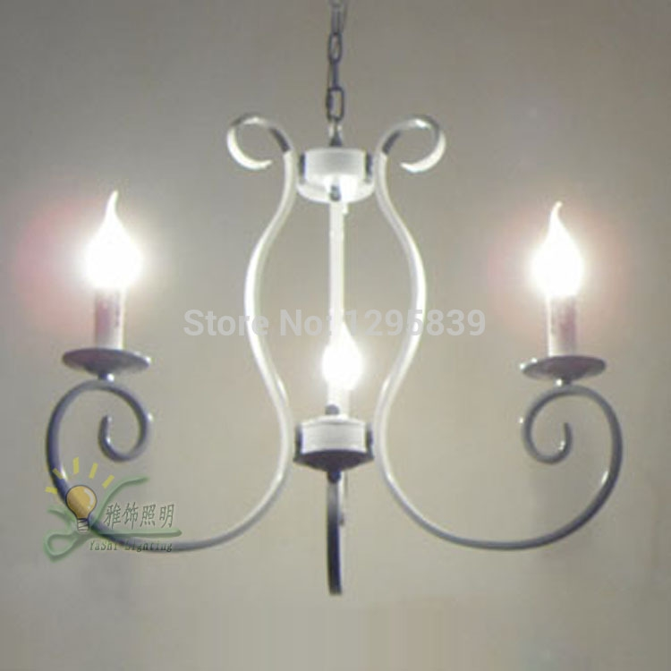 115.00$  Watch now - http://alibjr.worldwells.pw/go.php?t=32315633495 - Continental Iron candle chandelier Mediterranean restaurant lights American country living room lamp bedroom lamp antique vintag 115.00$