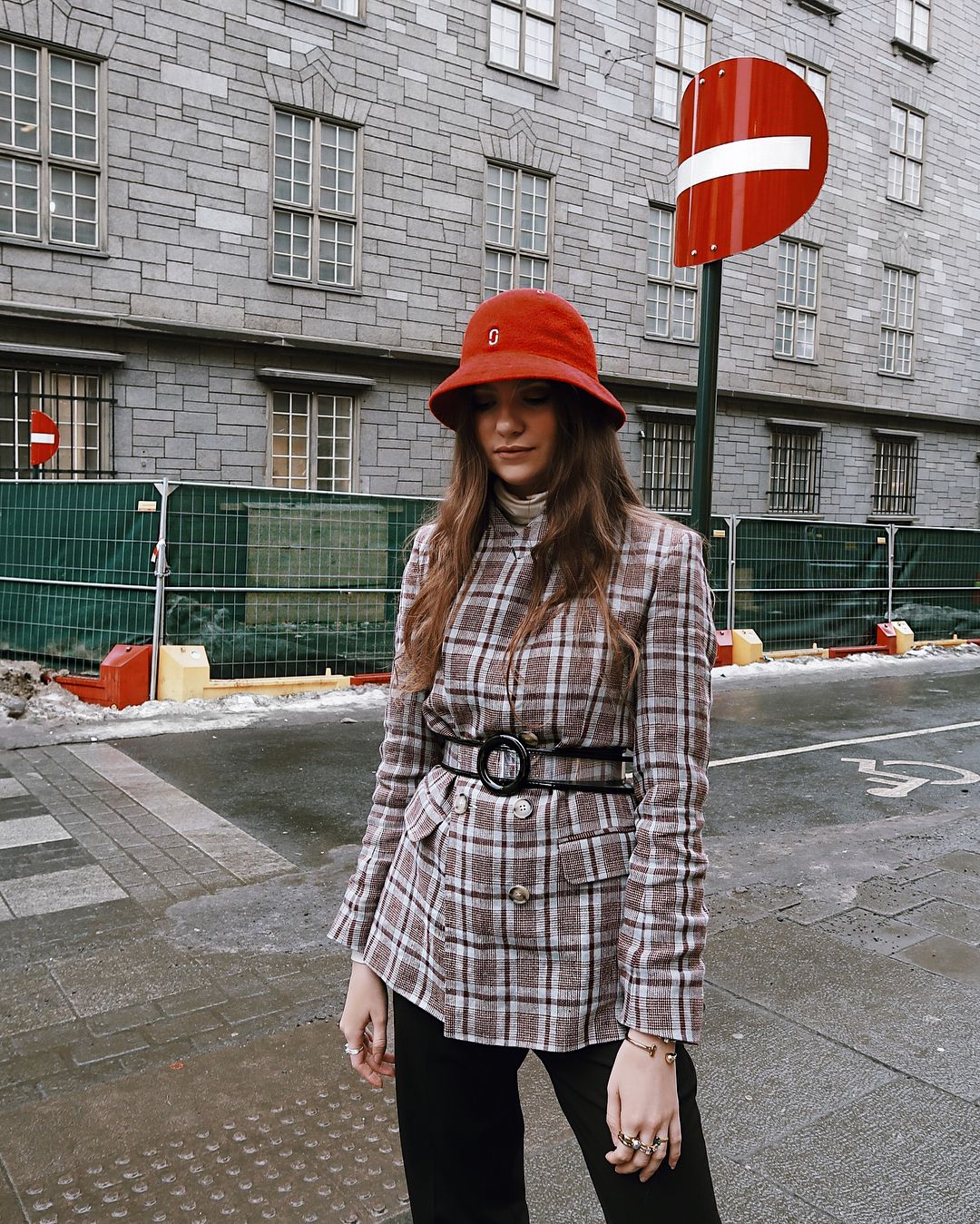 de7d4ae108c Maren Schia spotted wearing our Marc Jacobs x Kangol Bucket Hat