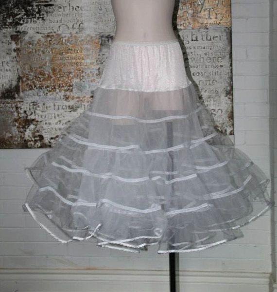 White Vintage 1950s Style Crinoline Petticoat Size L-XXL on Etsy, $56.62 CAD