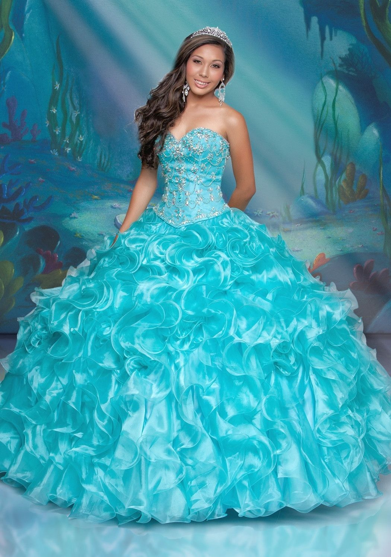 Disney Royal Ball Quinceanera Dress Ariel Style 41094 | Kleider mode ...