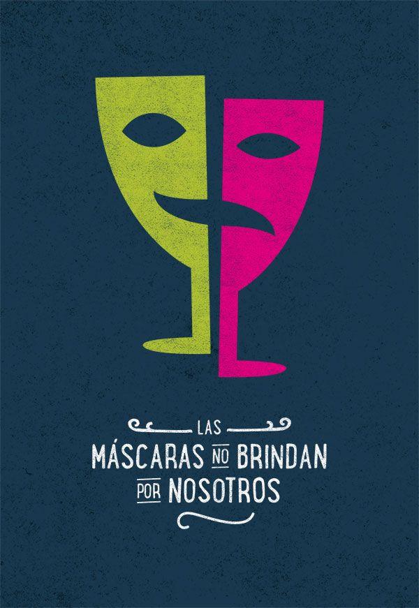 #unposteraldia / 034 / Las máscaras no brindan por nosotros