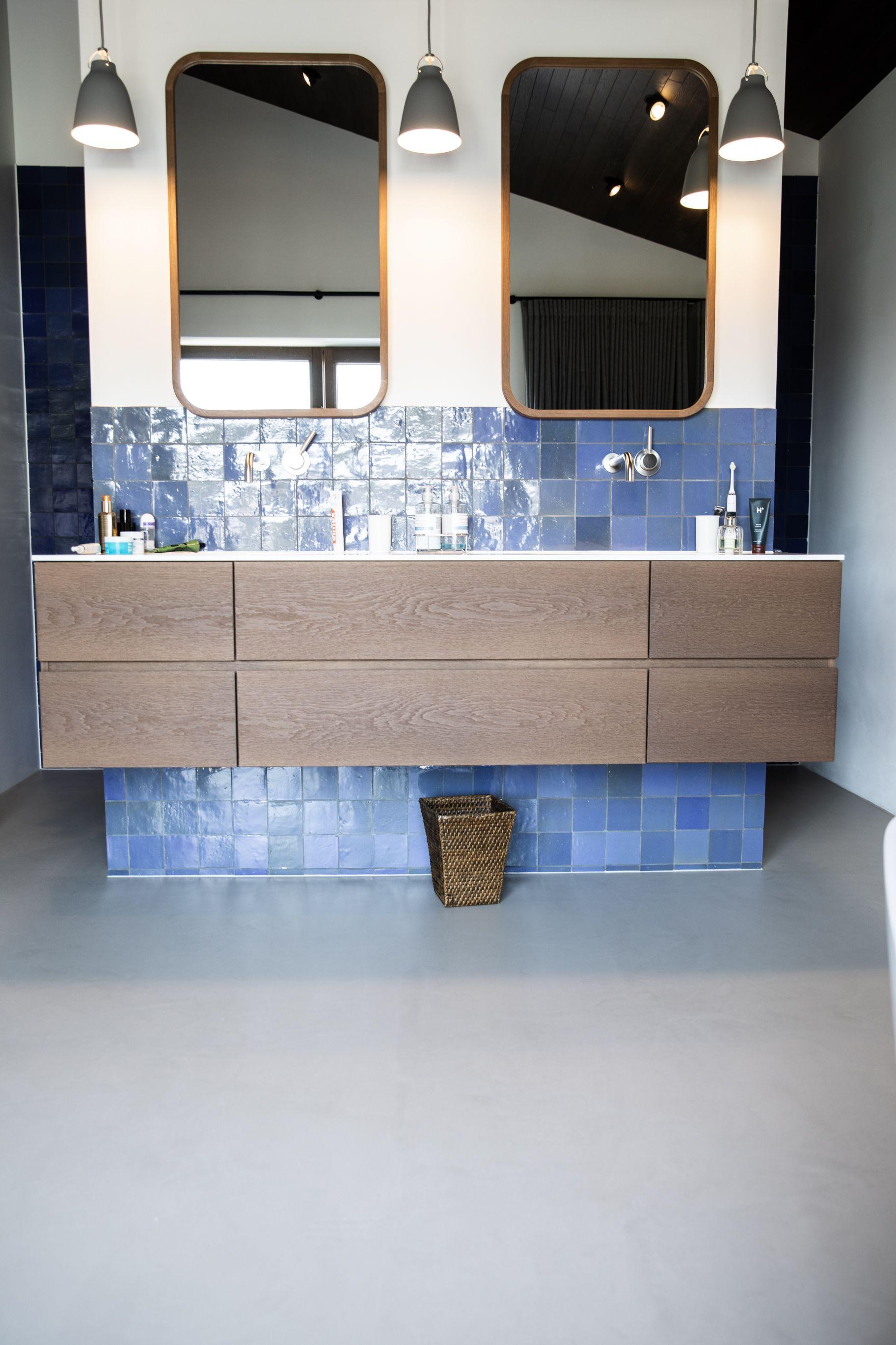Badezimmer Bodenbelag Designboden Hausbau Sichtestrich Badezimmer Haus Bauen