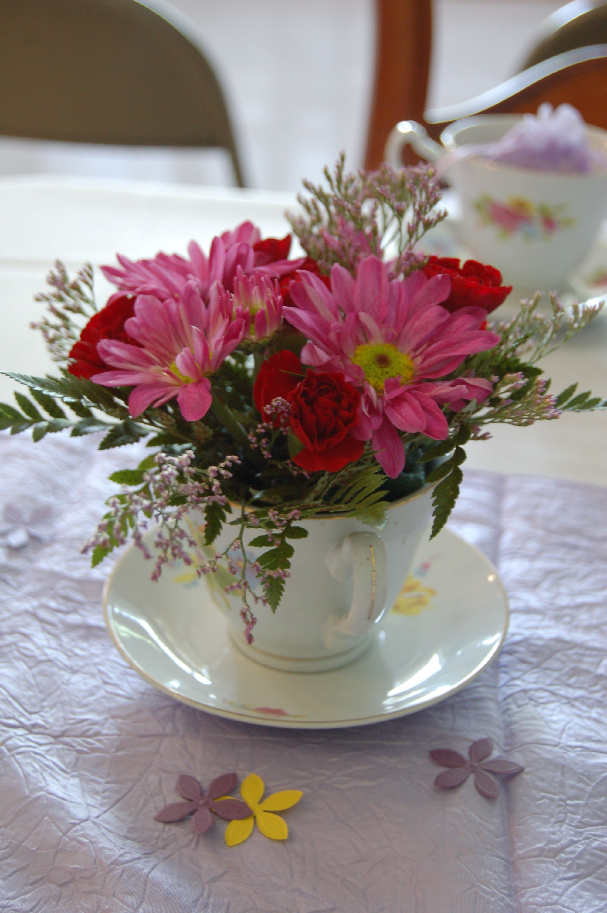 Tea of flowers perfect for a Bridal shower. Bridal