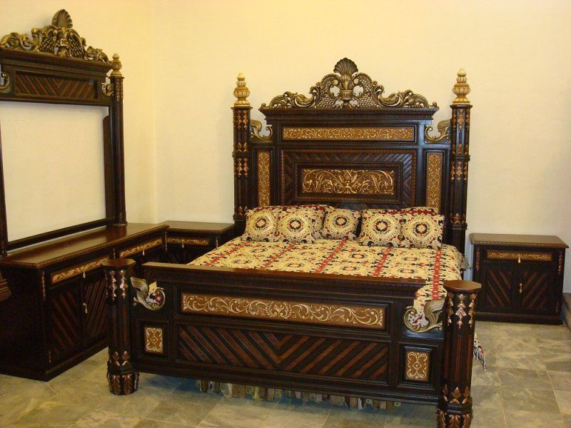 Chiniot furniture pakistan chiniot bed ideas for the for Bedroom designs pakistani