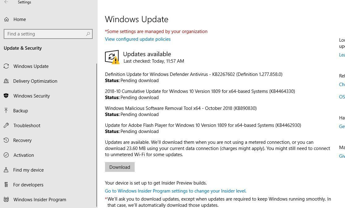 Windows 10 Cumulative Update Kb4464330 Os Build 17763 55 Available For Download Windows 10 Windows Windows Defender