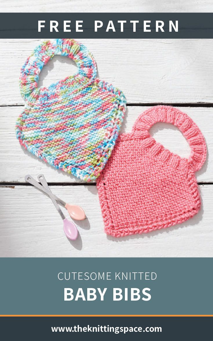 Cutesome Knitted Baby Bibs [FREE Knitting Pattern]