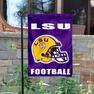 LSU Tigers Football Helmet Garden Banner