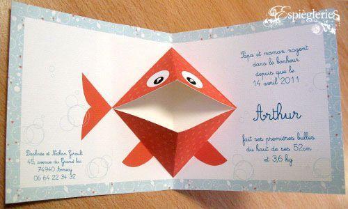 Pop Up Plouf Plouf La Fabrique Despigleries Kirigami Card