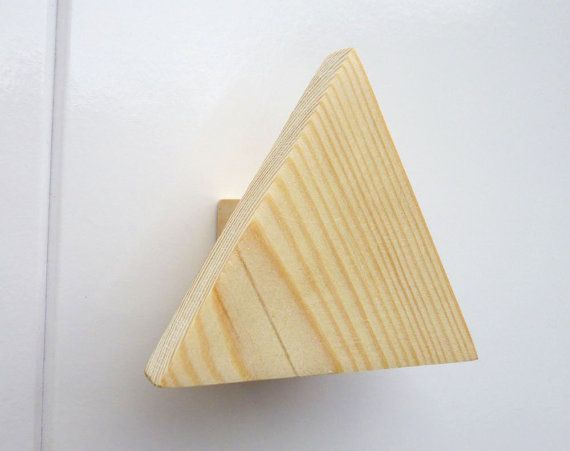 Wonderful Wooden Hand Made Drawer Handle Pine Triangle By CraftedPineCo