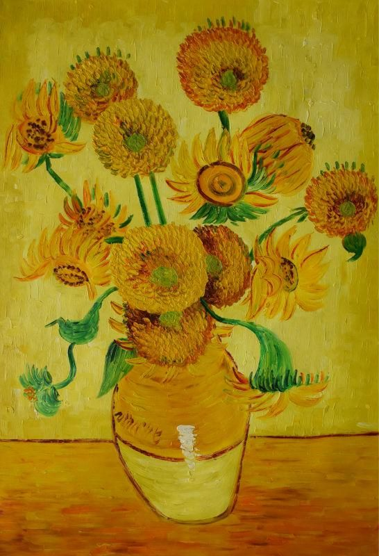 100%Hand Painted Canvas Wall Art Abstract Oil Painting Van gogh ...