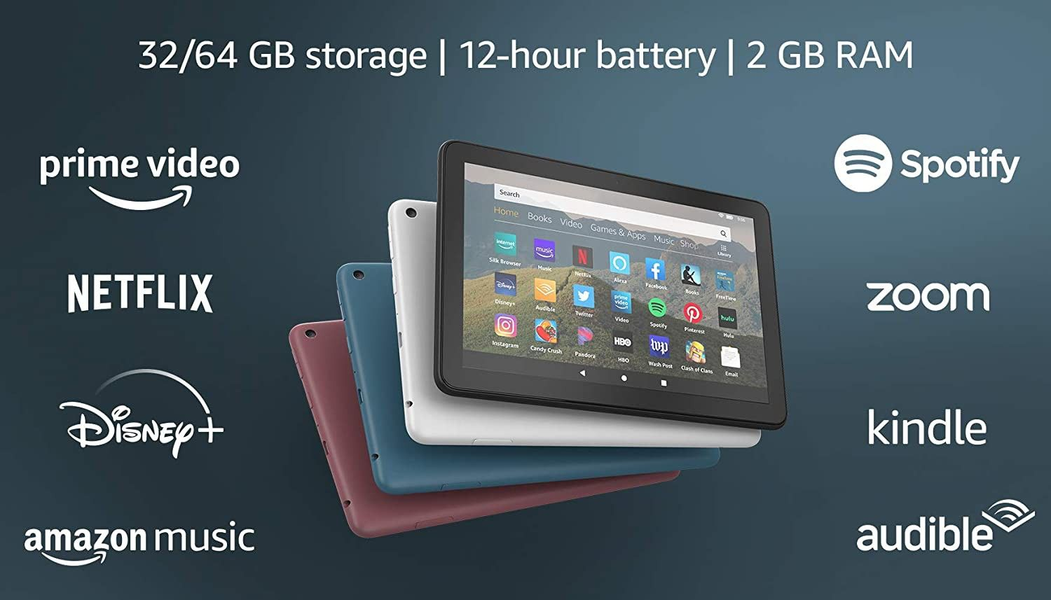 All New Fire Hd 8 Tablet 8 Hd Display 32 Gb Designed For Portable Entertainment Black Tablet Fire Tablet Kindle Fire Hd