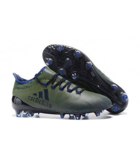 sale retailer 13762 26451 Adidas X 17.1 FG PEVNÝ POVRCH Tpu Černá Zelená Modrý Kopačky
