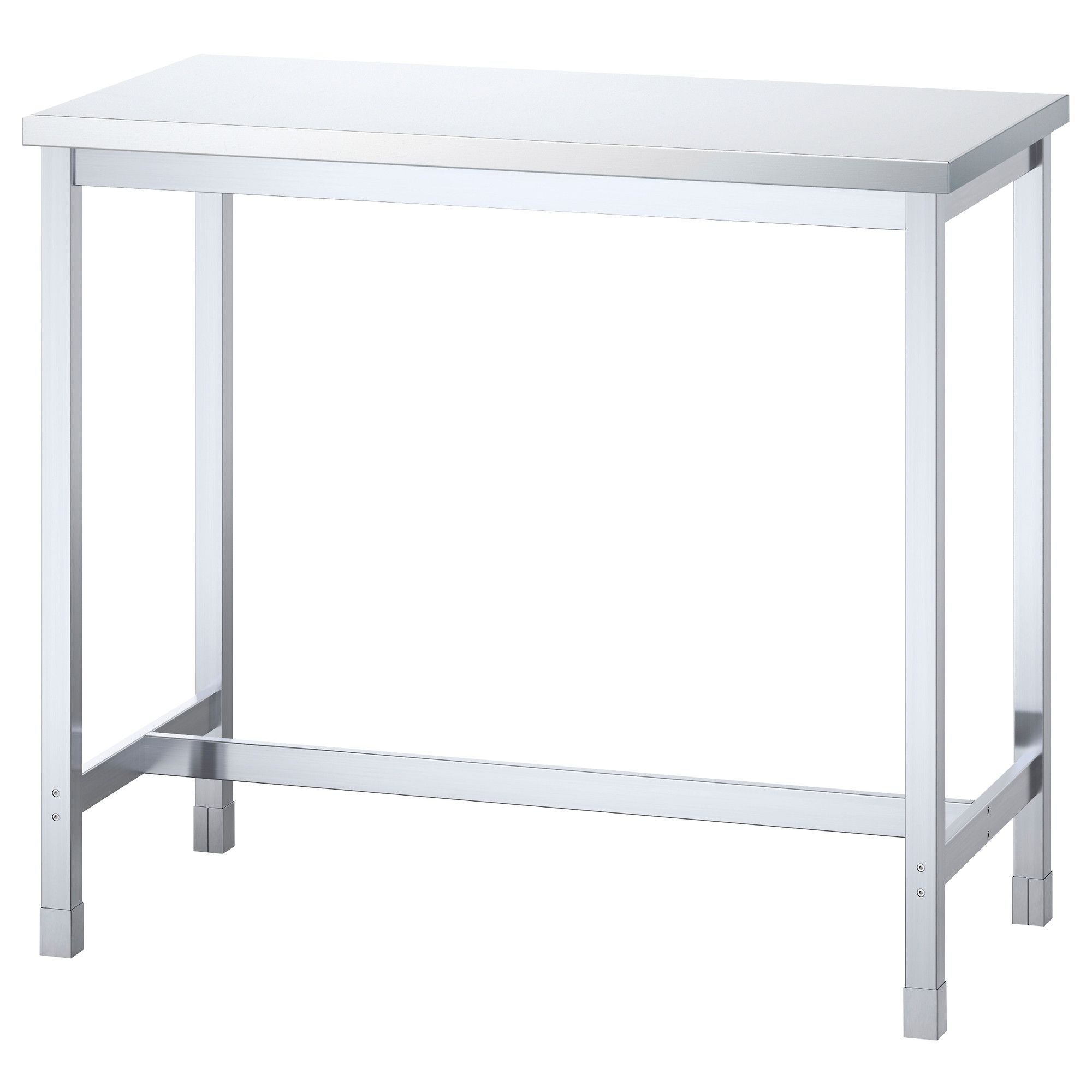 Perfect utby bar table stainless steel ikea for danus desk for Table chaise ikea