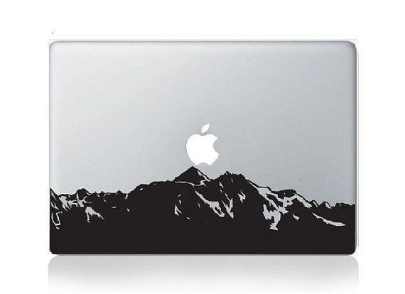 Mountain Mac Decal Macbook Decals Macbook Stickers Vinyl Decal - Vinyl decals for macbook