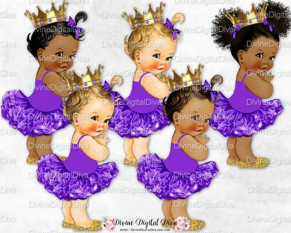 58eb3e2d57459 Princess Ballerina Purple Tutu Gold Crown Shoes   Vintage Baby Girl ...