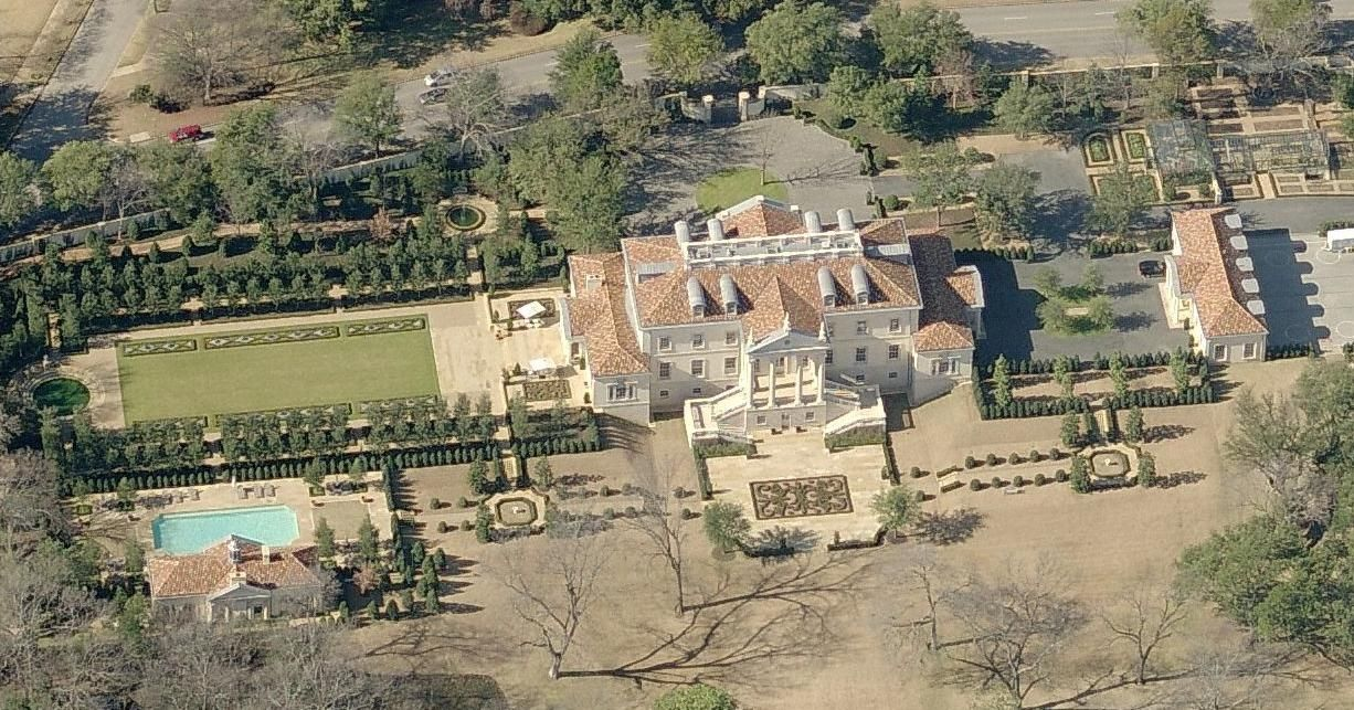 Opposite Side Of Billionaire Mega Mansion And Estate In