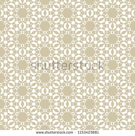 Luxury geometric background with hexagonal shapes stars flower silhouettes grid mesh lace subtle ornamental texture elegant white and gold design also vector abstract golden floral seamless pattern rh pinterest