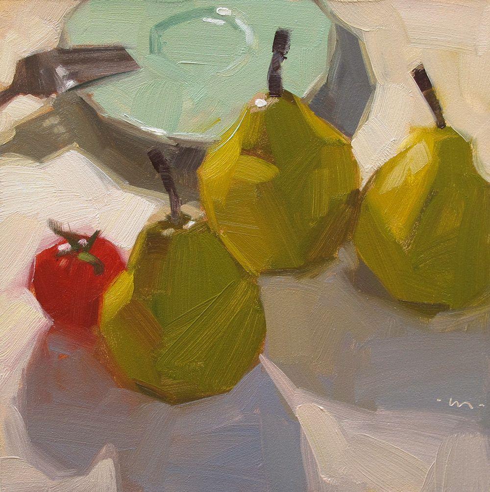 Carol Marine's Painting a Day: Tagalong Tomato