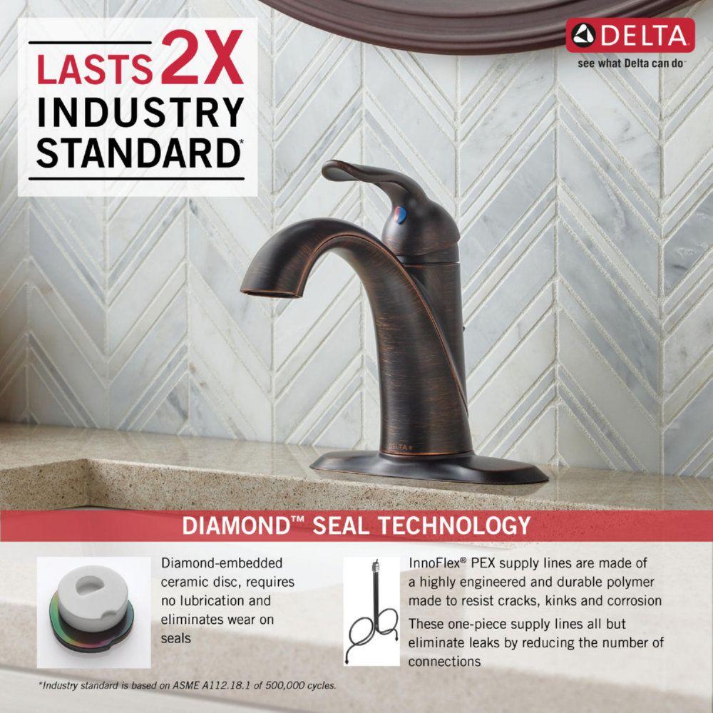 Delta Faucet 538-RBMPU-DST Lahara Venetian Bronze One Handle ...