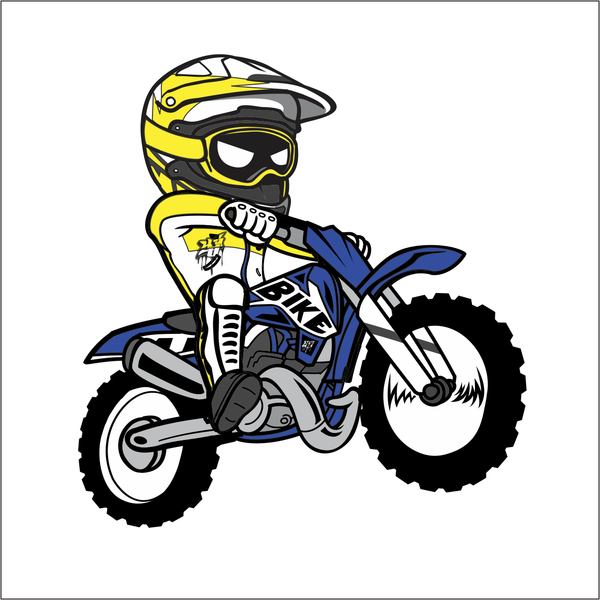 Cartoon Dirt Bike Sticker Dirt Biking Motocross And Rat