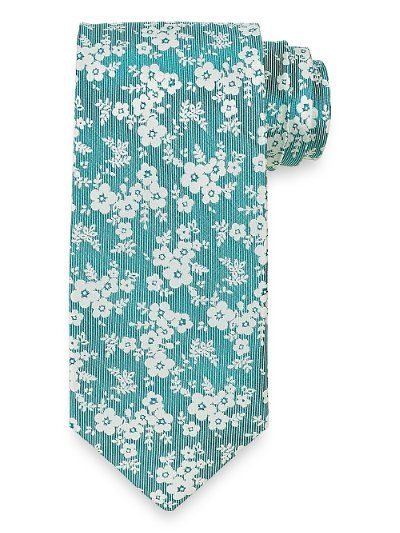 Floral Woven Silk Tie from Paul Fredrick