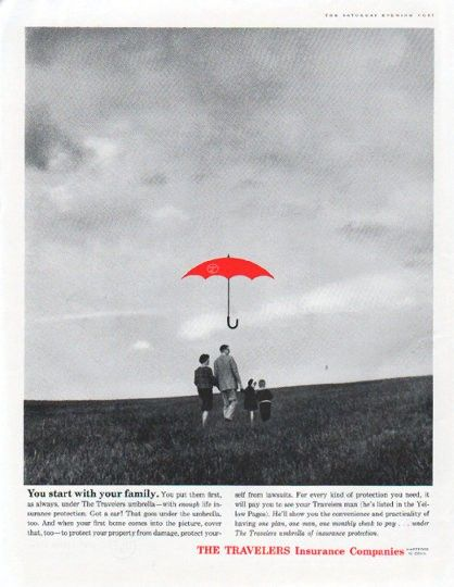 1961 Travelers Insurance Vintage Ad You Start With Your Family