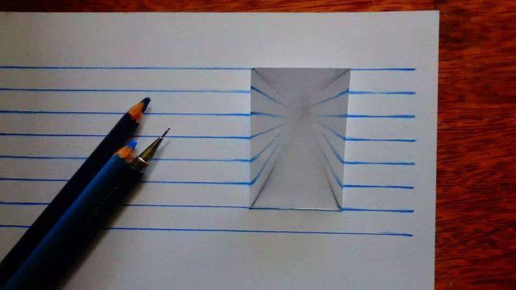 3d Drawing On Lined Paper : Lined paper illusion google keresés d art