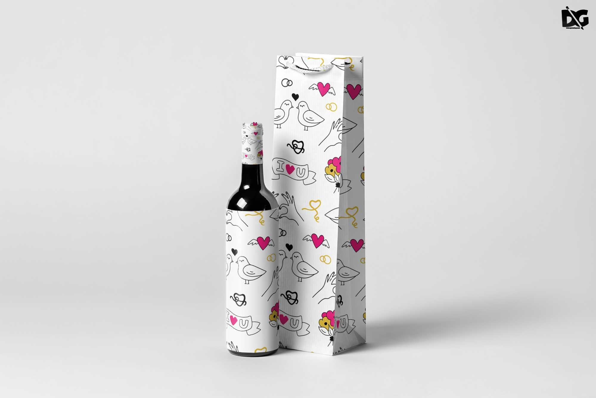 Download Free Bottle Wine Bag Mockup Bag Bottle Branding Design Download Download2018 Downloadpsd Free Freemockups Mock Ups Bag Mockup Wine Bag Wine Bottle