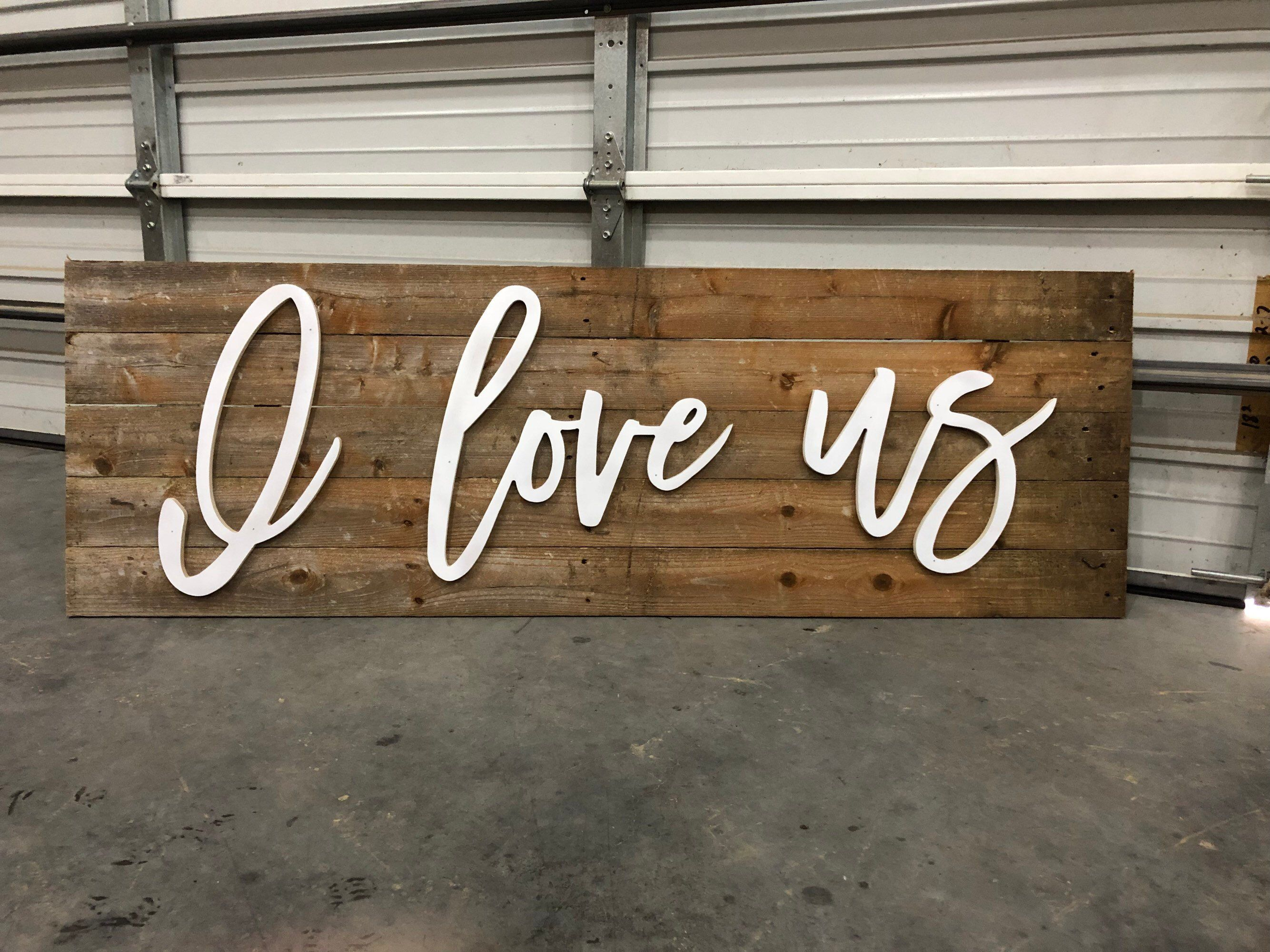 I Love Us Wood Words Letters Craft Diy Wall Art Etsy