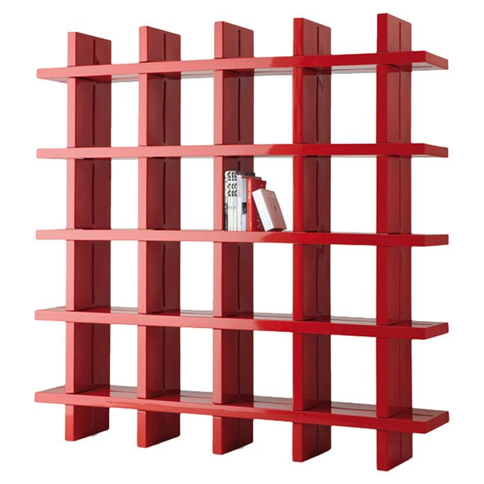 mod red bookshelf