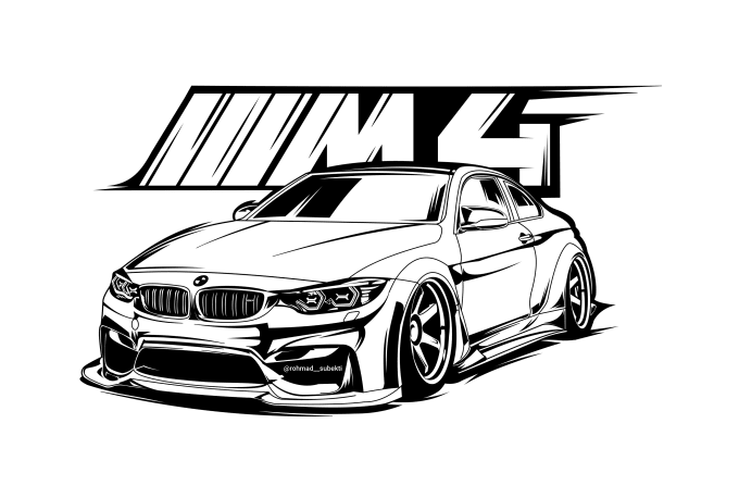 Rohmadsubekti I Will Draw Your Car Into Cool Detailed Line Art Vector For 10 On Fiverr Com Line Art Vector Art Cars Car Artwork