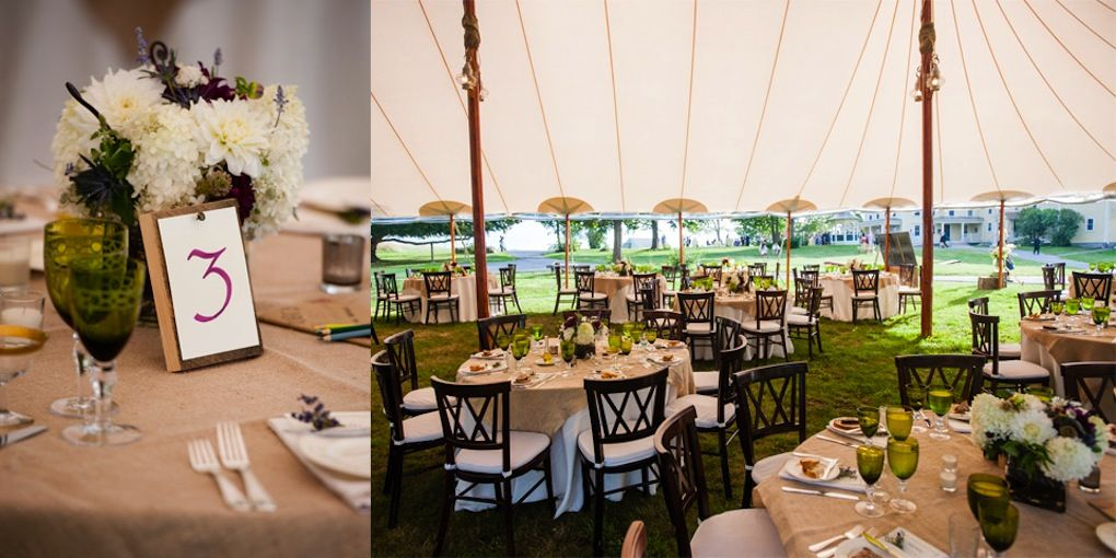 Laudholm Farm Wedding Tables And Decor Rustic Maine Weddings Catered By Foster S Clambakes Catering