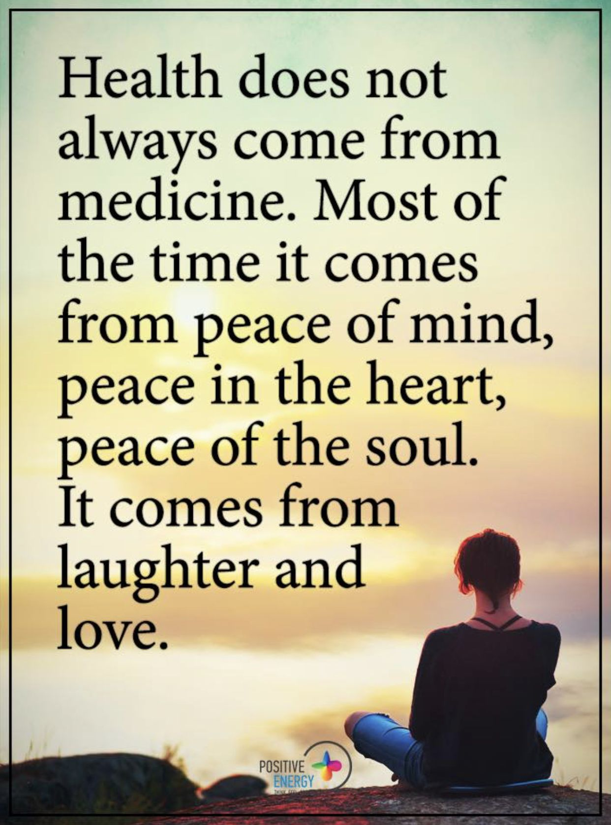 Peace Mind And Body Short Inspirational Quotes Positive Quotes Best Positive Quotes