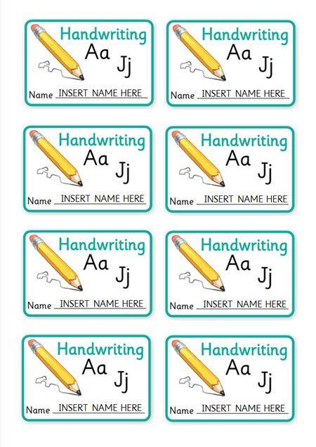 Editable book labels teachers credit