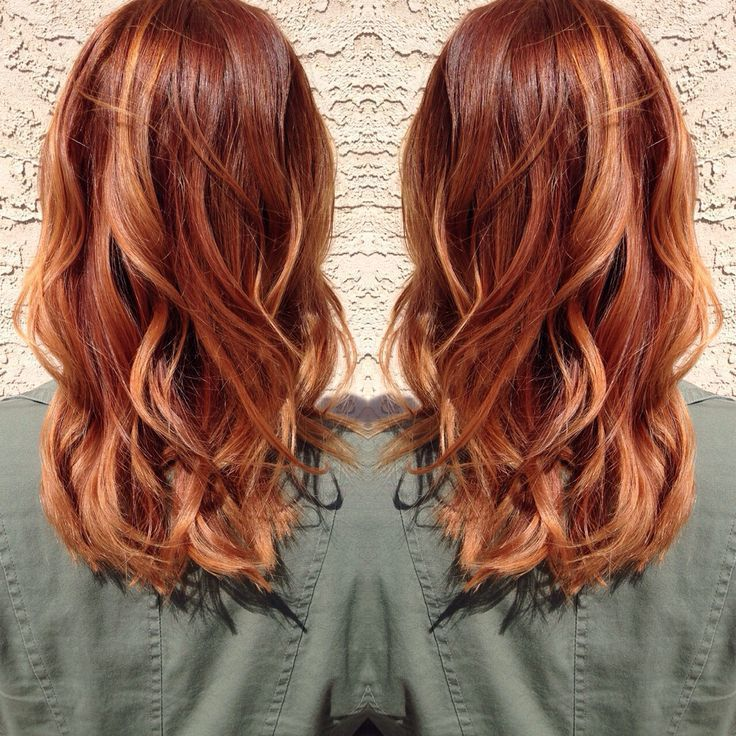 Pictures Of Copper Highlights On Blonde Hair Medium Hair Styles