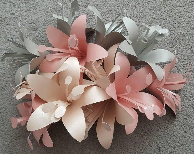 Paper Flower Template. PDF and SVG. Mini Rose.   Etsy
