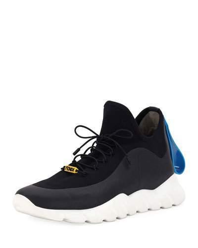 992347b986 Men's Runway High-Top Scuba Sneakers Black   Products   Sneakers ...