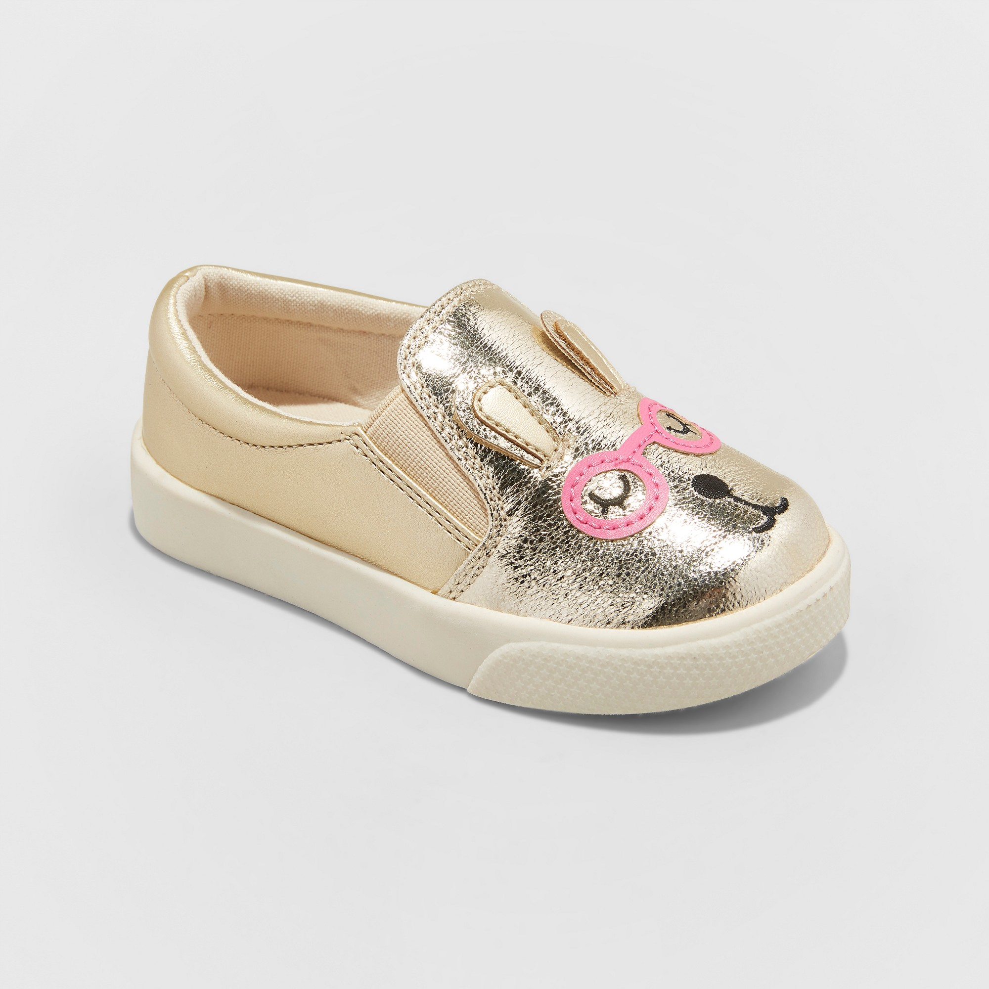 dd425c430 Toddler Girls  Augusta Slip on Metallic Bunny Critter Sneakers - Cat   Jack  Gold 10