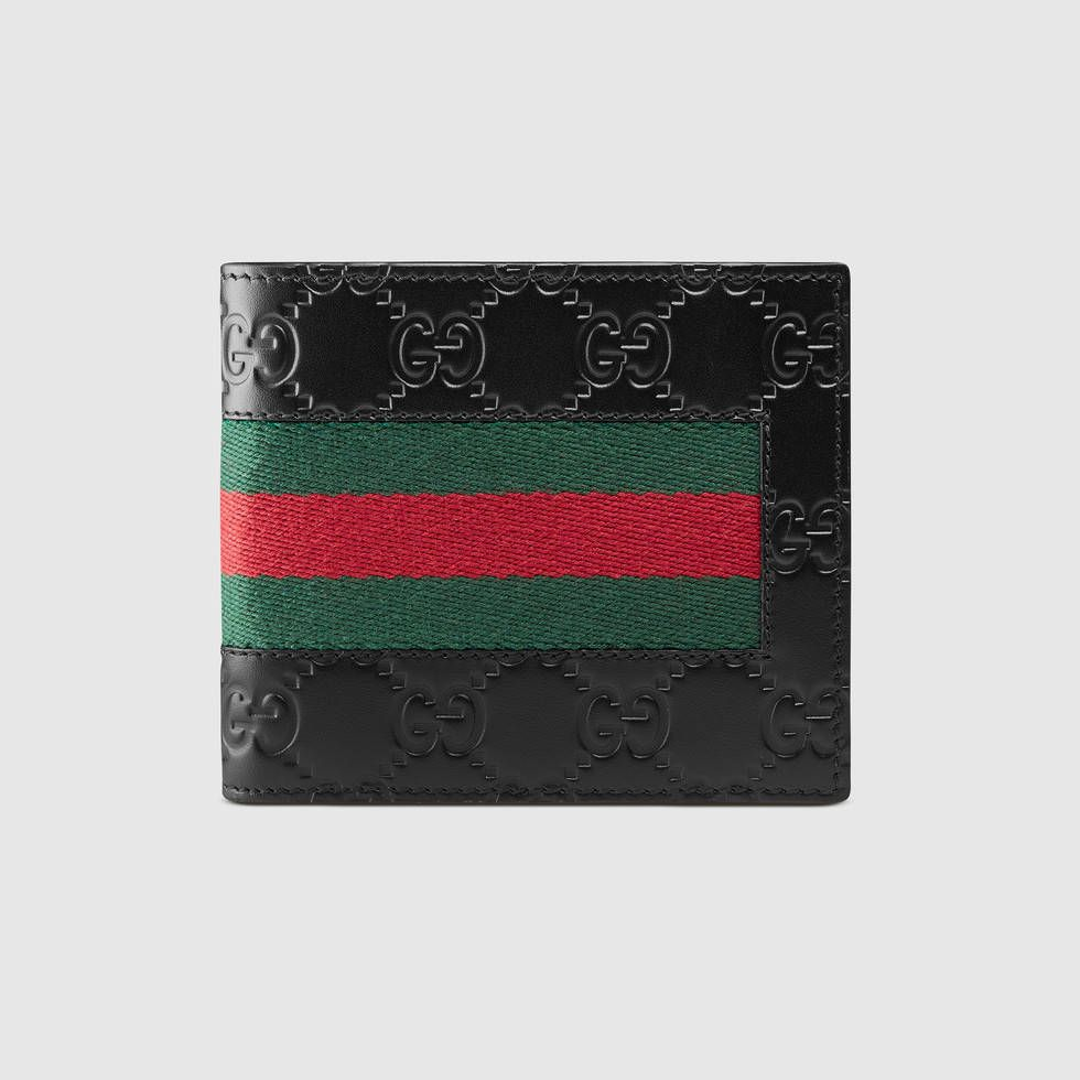 621f1db73b85c9 Shop the Gucci Signature Web wallet by Gucci. A combination of two of  Gucci's most