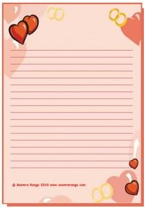 Valentine Lined Page 6 Free Printable Stationery Printable Stationery Writing Paper