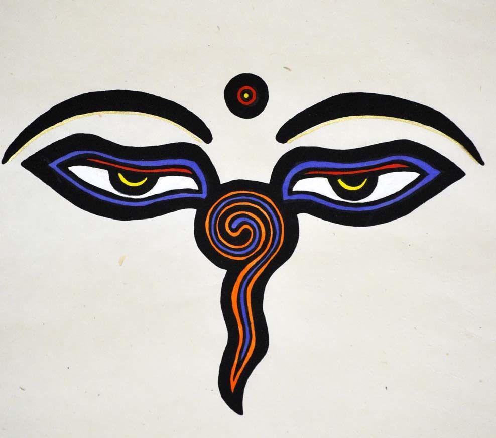 Purple and orange buddha eyes poster biocorpaavc Images