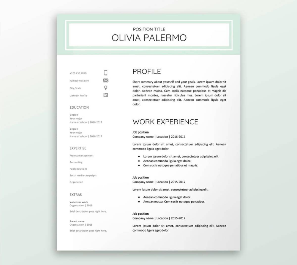 Resume Templates Compatible With Google Docs (4