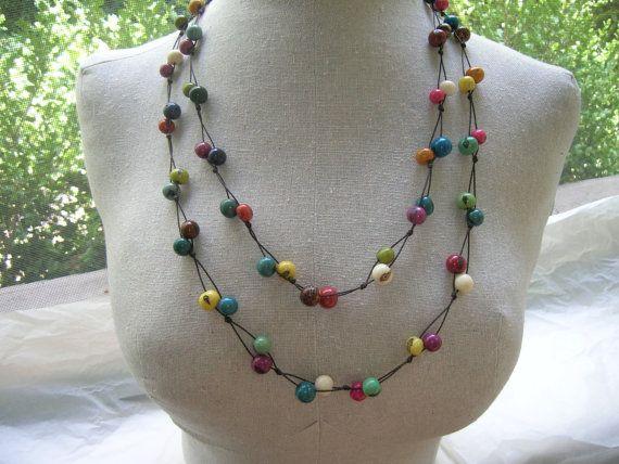 fair-trade acai necklace