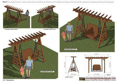 home garden plans: Furniture Plans: Arbor Swing Plans - Garden Swing Design - Garden Teak Table Plans - Dinning Table Set Plans - Garden Chair Plans