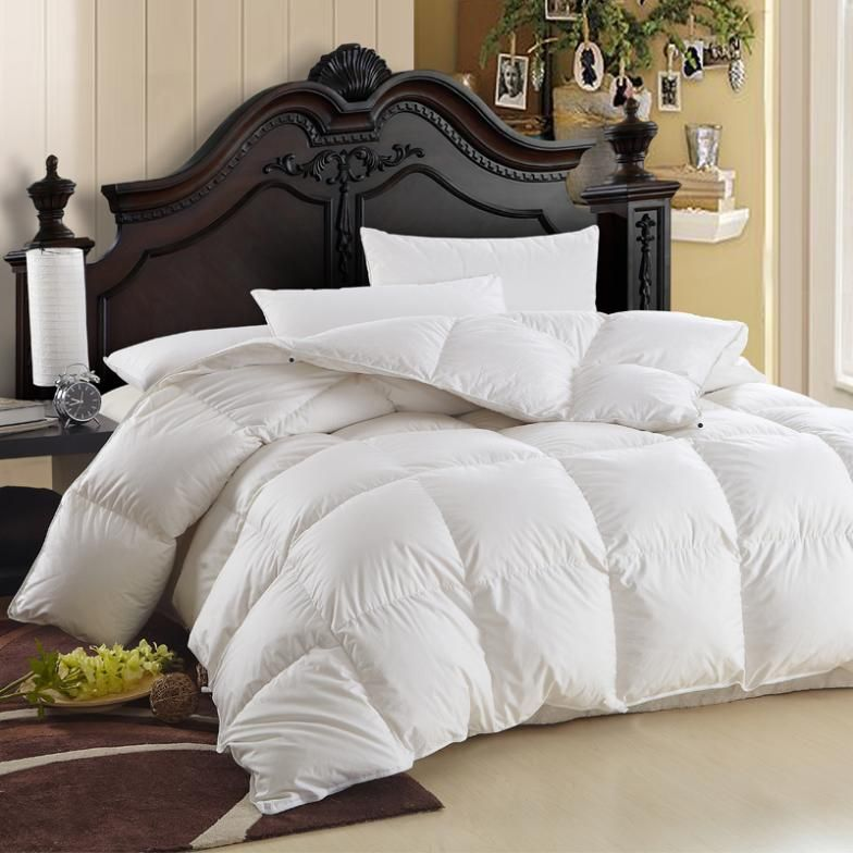 Thick cotton white goose down duvet quilt winter is anti-drilling ... : thick quilt - Adamdwight.com