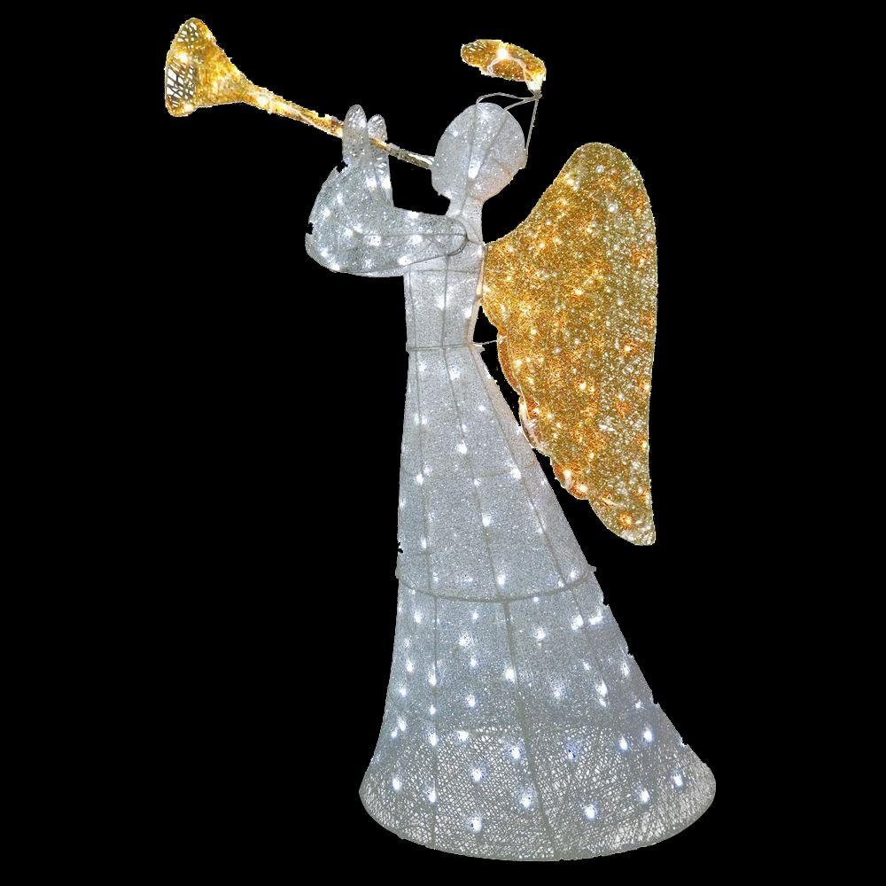 National Tree Company 60 In Angel Decoration With Led Lights In 2021 Angel Decor Christmas Yard Decorations Outdoor Christmas Decorations Yard Outdoor lighted angel christmas decorations