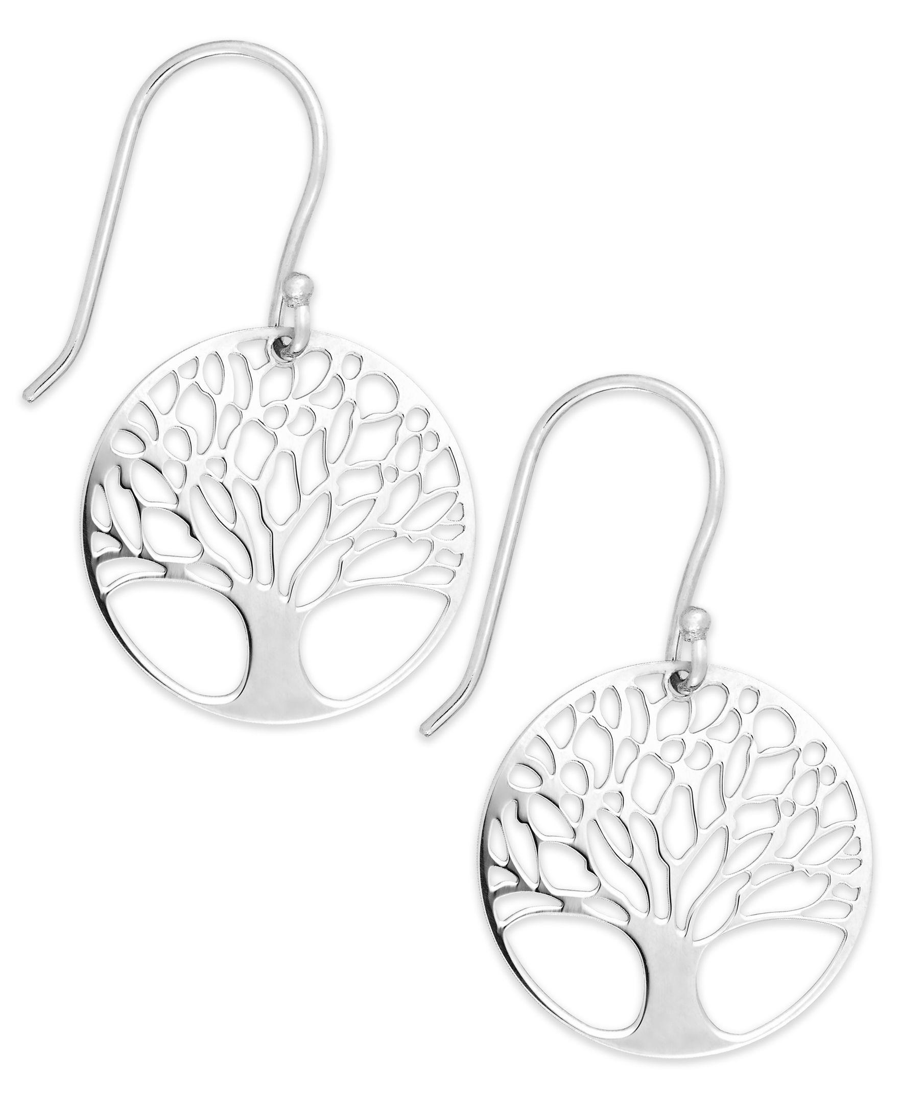 83908292c5 Giani Bernini Sterling Silver Tree of Life Drop Earrings | Products ...