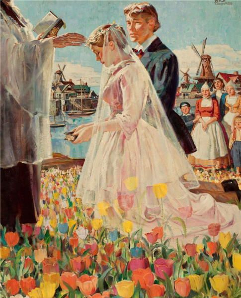 wedding paintings rico tomaso wedding in holland