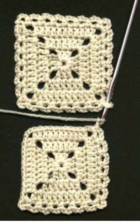 Tutorial on how to flat braid join granny crochet squares.