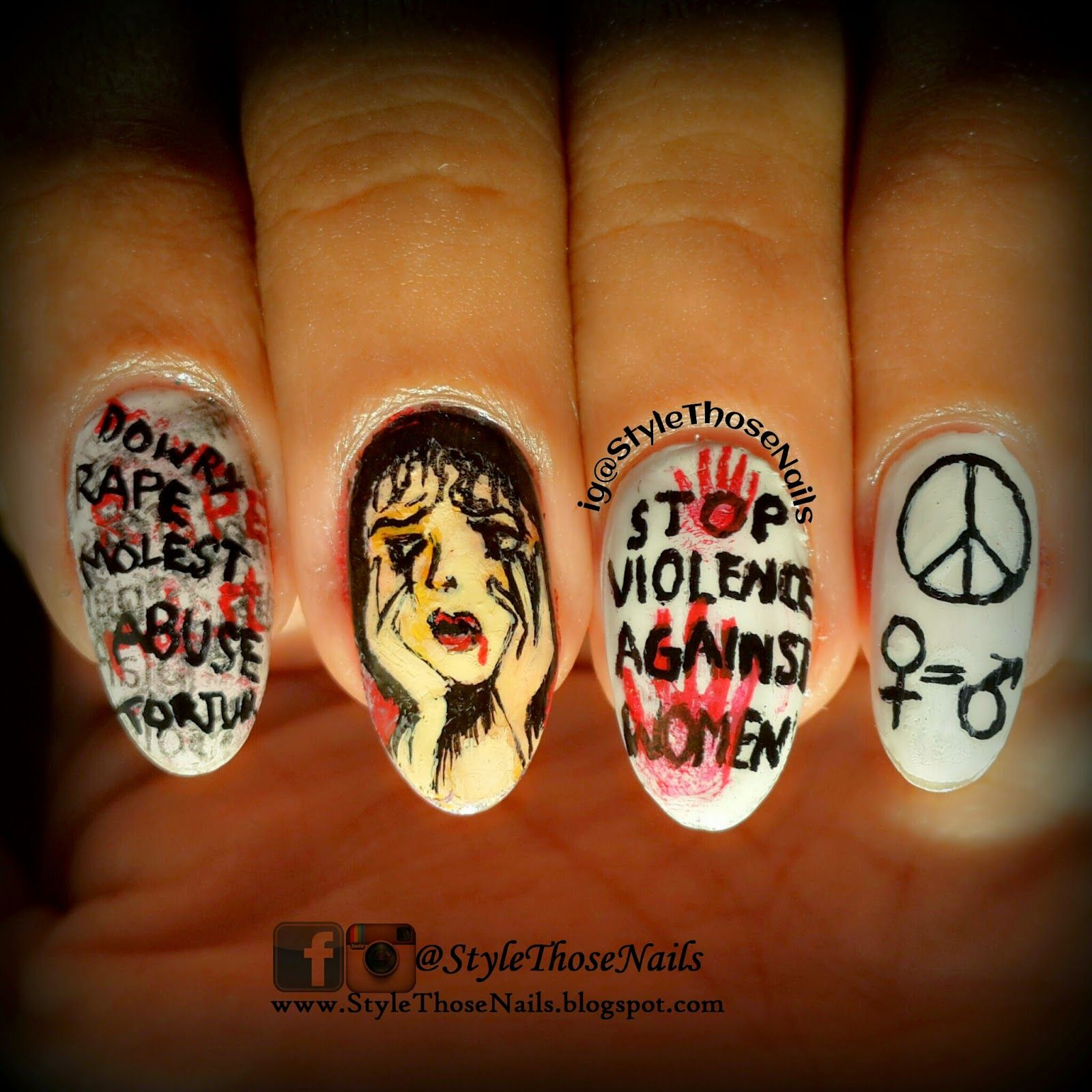 Stop Violence Against Women Nailart For A Cause Part 1